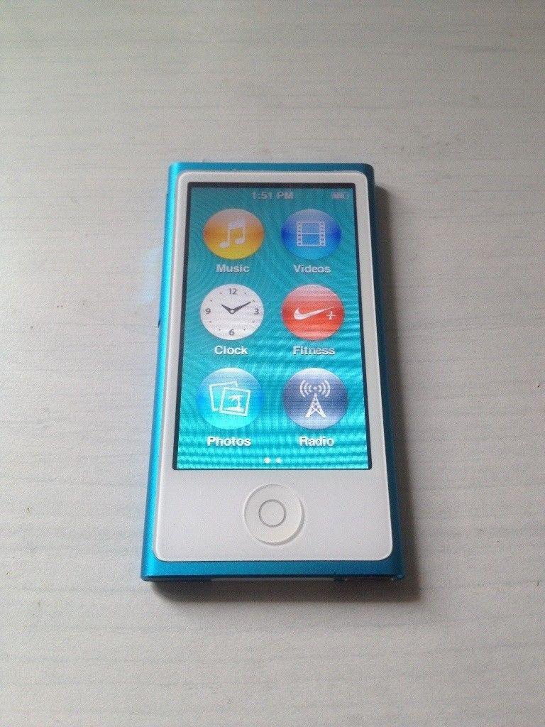 iPod Nano, 7th generation, touch screen, 16GB, Foto, Video, Music, Radio, Nikeapp,Pristine condition