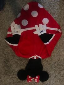 Disneyland Minnie Mouse poncho 5-6 years