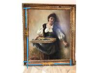 Fine art oil painting circa late 1800 painting