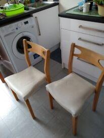 1960s kitchen chairs x 2