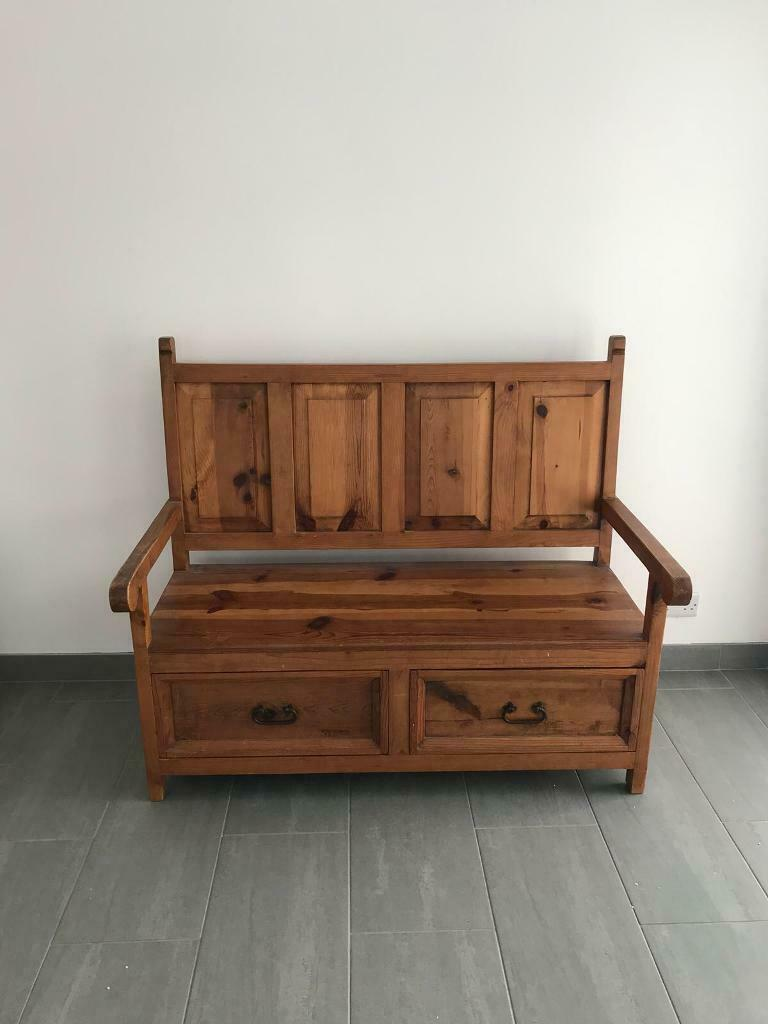 Remarkable Mexican Pine Monk Style Bench In Wadebridge Cornwall Gumtree Ocoug Best Dining Table And Chair Ideas Images Ocougorg