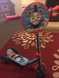 Thomas the tanks first scooter