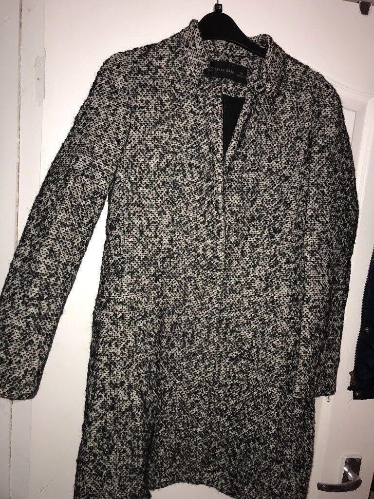 04da8019 Zara Black and white coat Size 8 | in Bearsden, Glasgow | Gumtree