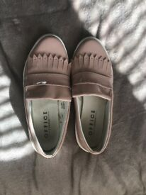 Flat loafer style shoes by Office Size 6