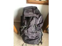 Framed 65 litre rucksack