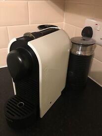 Nespresso U and Milk Pure Cream Coffee Capsule Machine with Aeroccino by Krups
