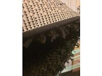 Black Shaggy rug 180 x 270cm