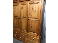 Large pine wardrobe *delivery available