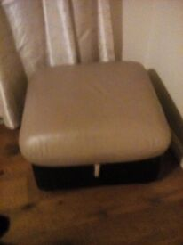 Dhs leather footstool