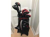 Wilson ProStaff HDXFull Set Adult RH Golf Clubs (Dr, 3w, 4h, 4i-sw, put) with Bag - Used, Good