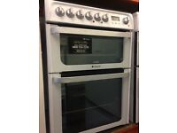 HOTPOINT ELECTRIC COOKER 60cm DOUBLE OVEN WITH GRILL FREE DELIVERY AND WARRANTY