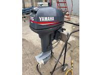 Yamaha 15hp 2 stroke Outboard Short Shaft Sib inflatable Rib