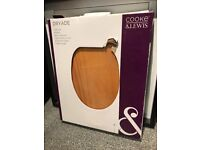 Unopened-Cooke and Lewis Dryade Solid Pine Toilet Seat