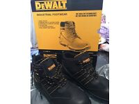 Brand new in the box, waterproof DeWalt Nickel Black boots