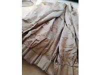John Lewis Curtains one large heavy pair of Mocha colour with padded lining drop 80 width106