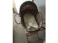 USED MOSES BASKET & STAND