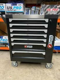 7 drawer toolbox filled with tools