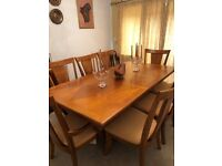 Dining Table and 8 Chairs Plus Matching Side Board