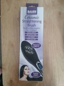 New straightening brush in box