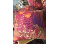 Colourful cushions - quality feather filled designer cushions x 7