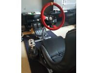 playseat evolution black with modified G25 racing wheel and pedal set for the pc ps2 and ps3