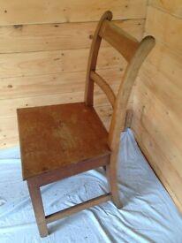 4 Victorian Welsh Oak Chairs.