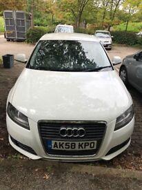 White Audi A3