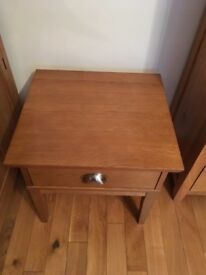 Two solid wood side tables- very good condition