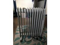 2 x OIL FILED RADIATOR 2500w 11 ELEMENT