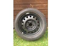 Brand new Kia Cee'd steel wheel with brand new tyre