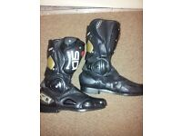 Motorbike boots. £25 and £60 each