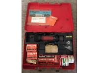 Hilton DX100L powder actuated piston drive nail gun with cartidges