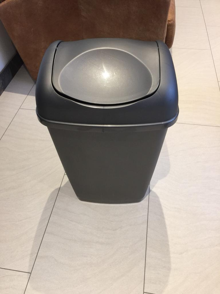 Kitchen waste Recycling rubbish bin grey.