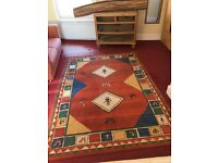 Pure Wool Rug beautiful Qashqai design 170x240 excellent condition recently cleaned