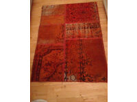 Limited Edition - Pure Wool Rug (Small, Orange MYSTIC colection)