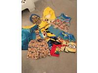 Brand new minion summer holiday swimming bundle towel shorts hat vest trunks