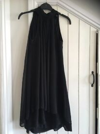 Black halterneak shift dress