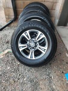 BRAND NEW TAKE OFF 2018  TOYOTA TACOMA  17 INCH WHEELS  WITH HIGH PERFORMANCE FIRESTONE  265 / 65 / 17  ALL SEASON TIRES