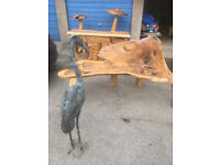 Teak tree root garden furniture set