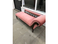 Chaise Longue with Oak Frame , in good condition. £350 Size L 72in Free Local Delivery.