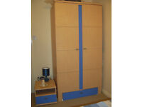 double wardrobe and bedside table
