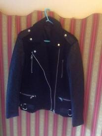 Motor bike style lady's jacket