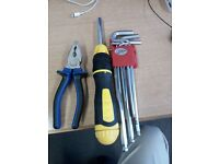 Tools: Pliers and screw drivers