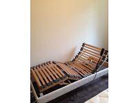 Adjustable frame single bed
