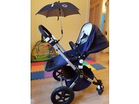 Bugaboo Cameleon 3. Great condition. Comes with bugaboo foot muff, carrycot, raincover and umbrella