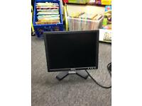 "Dell 15"" inch monitor screen computer PC viewing desktop"