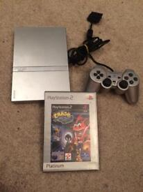 Slim ps2 console and crash bandicoot