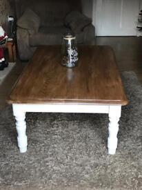 Solid oak Heavy large coffee table
