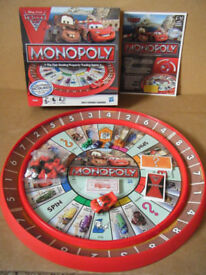 Monopoly, DISNEY PIXAR CARS, board game. By Hasbro games. Complete