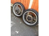 Yamaha R125 front & back tyres